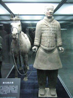 Terracotta cavalryman and horse