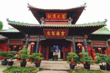 A building in Zhang Fei Temple