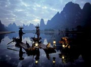 Cormorant fishing is often associated with the Lijiang
