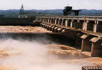 Gezhou Dam on Yangtze River